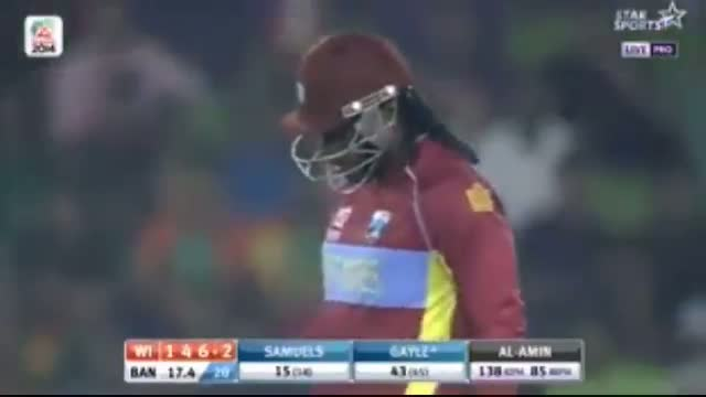 WI Innings P2 - Bangladesh vs West Indies T20 World 2014 - WI Vs BAN T20 (Cricket Video)