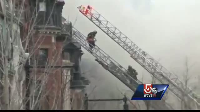 Witness describes 9 alarm fire on Beacon Street in Boston (News Video)