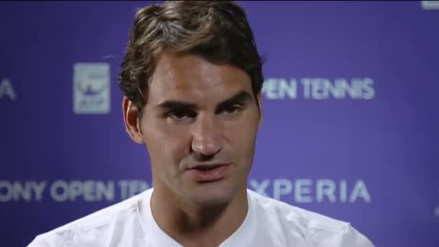 Federer Reacts To Win Over Gasquet in Sony Open Tennis (Tennis Video)