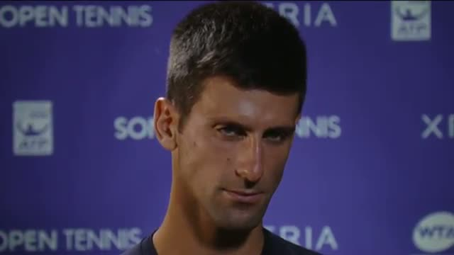 Djokovic Discusses Fourth-Round Win Over Robredo At 2014 Sony Open Tennis (Tennis Video)