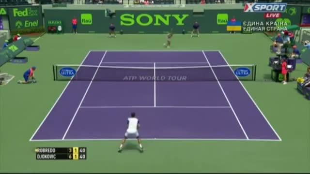 Novak Djokovic vs. Tommy Robredo - Miami 2014 Highlights (Tennis Video)