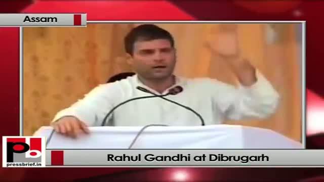 Rahul Gandhi at Dibrugarh (Assam) lashes out BJP