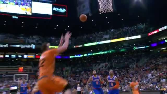 NBA: Miles Plumlee Finishes the Fastbreak With a Reverse Alley-Oop (Basketball Video)