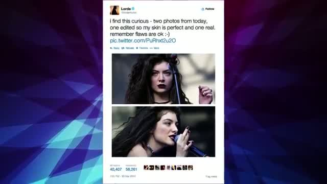 Lorde Shows Off Her Acne with Photoshopped Side-by-Side