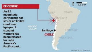 Chile earthquake: five dead, tsunami hits northern coast