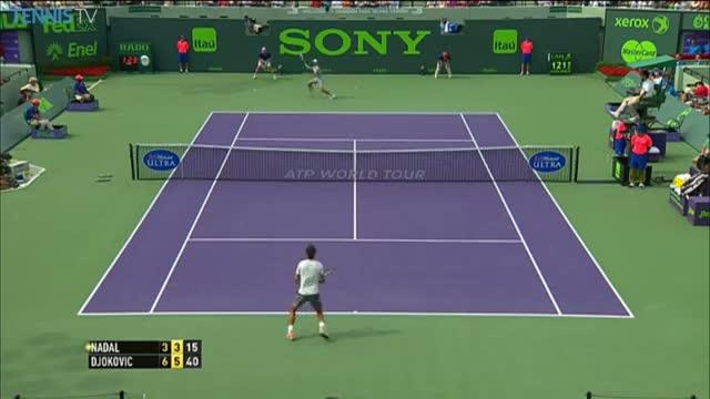 Miami Match Point: Djokovic Beats Nadal To Win 2014 Sony Open Tennis (Tennis Video)