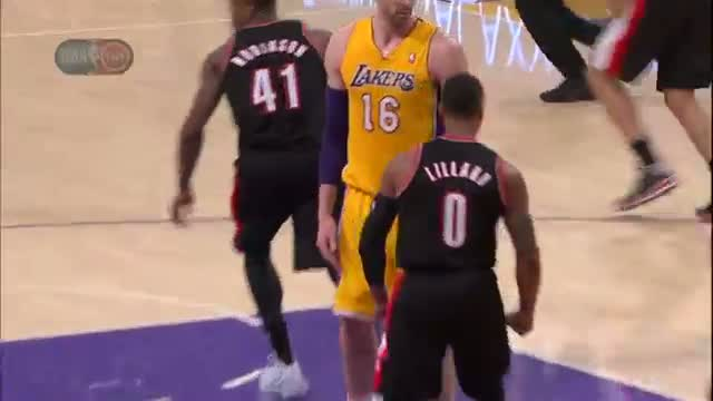 NBA: Damian Lillard's NASTY One-Handed Slam - (Basketball Video)