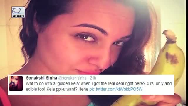 Sonakshi Sinha Swaps Golden Kela With Real Kela