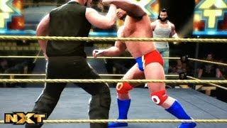The Wyatt Family vs Amazing Punk.Mojo Rowley - NXT. April 3,2014