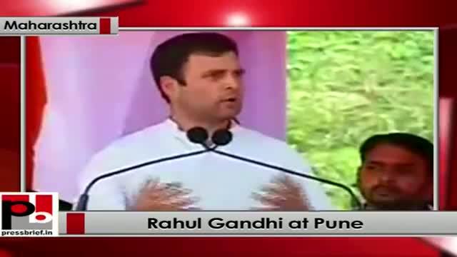 Rahul Gandhi's public rally at Pune, (Maharashtra)