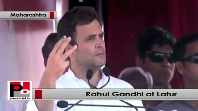 Rahul Gandhi at Latur (Maharashtra): It is Modi - Adani partnership in BJP