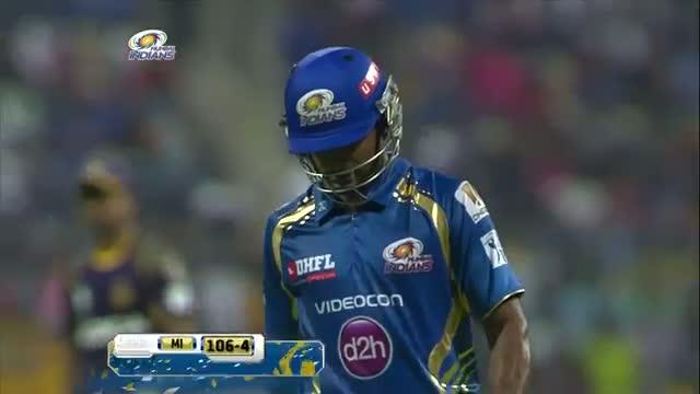 Sunil Narine gets 7th Four wicket haul in Twenty20 career - MI vs KKR - PEPSI IPL 2014 - Match 1 (16 April 2014)