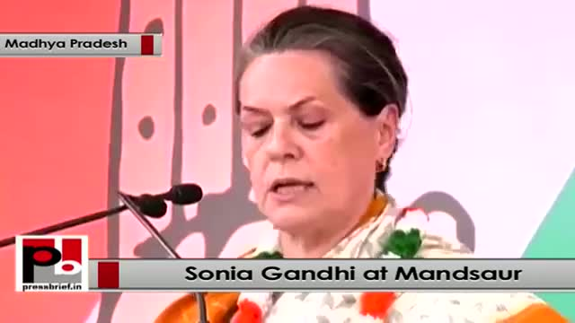 Sonia Gandhi at Mandsaur: Madhya Pradesh can be better called Scam Pradesh