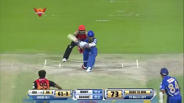 SH vs RR - Match 4 - Ajinkya Rahane played match winning knock  - PEPSI IPL 2014 (18 April 2014)