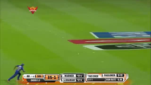 SH vs RR - Match 4 - Shikhar Dhawan scored 3 Fours and a big Six - PEPSI IPL 2014 (18 April 2014)