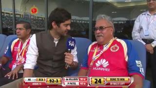RCB vs MI - Match 5 - DR. Vijay Mallya being interviewed by Gaurav Kapur  - PEPSI IPL 2014 (19 April 2014)