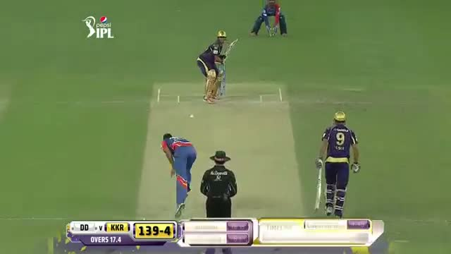 KKR vs DD - Match 6 - Shakib Al Hasan smash 1 Six and 2 Fours - PEPSI IPL 2014 (19 April 2014)