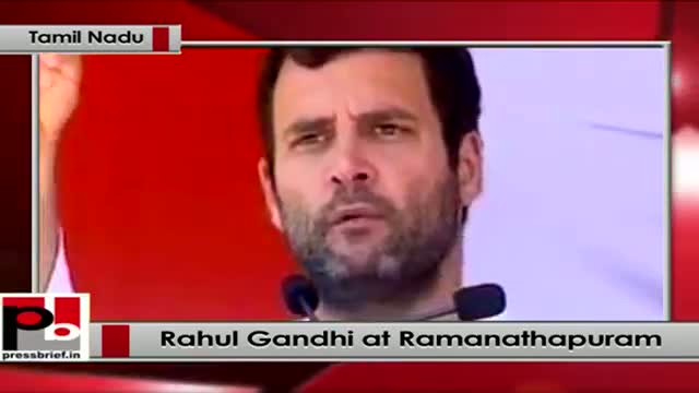 Rahul Gandhi's election rally at Ramanathapuram, (Tamil Nadu)