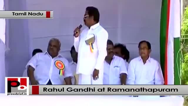 Rahul Gandhi in Ramanathapuram, Tamil Nadu: Congress does not believe in a politics of violence
