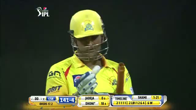 CSK vs DD - Match 8 - Dhoni blasts 2 Fours and 2 huge Sixes in his 15 balls 32 runs - PEPSI IPL 2014 (21 April 2014)