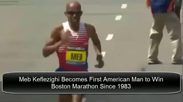 Meb Keflezighi Wins Boston Marathon 2014 | Meb Keflezighi Wins Boston Marathon VIDEO