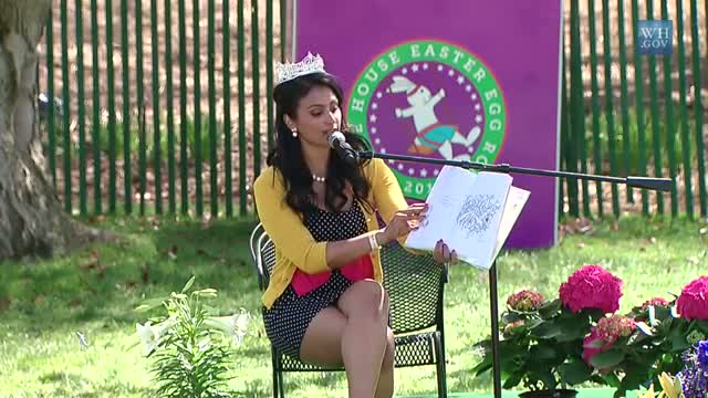 2014 White House Easter Egg Roll: Nina Davuluri Reads The Giving Tree