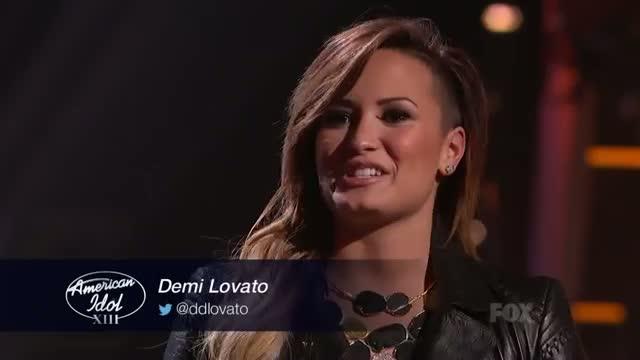 AMERICAN IDOL Top 7 - Demi Lovato Stops By American Idol! - AMERICAN IDOL XIII
