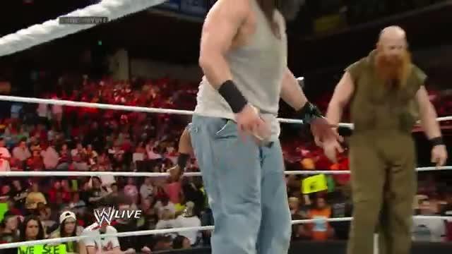 John Cena vs. The Wyatt Family - WWE App Vote WWE Match: Raw, April 21, 2014