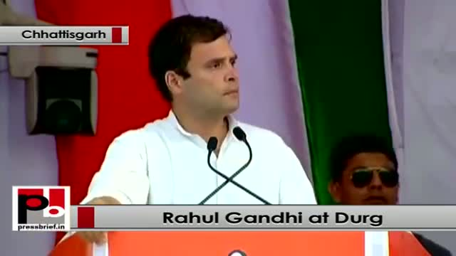 Rahul Gandhi at Durg in Chhattisgarh: Modi handed over the keys of Gujarat to Adani