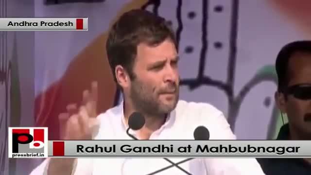 Rahul Gandhi in Mehbubnagar, Andhra Pradesh: Telangana is a reality because of Congress