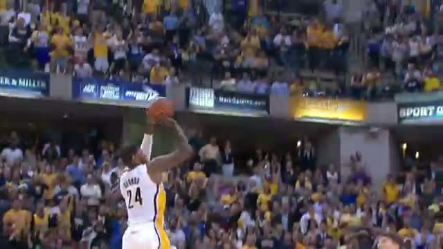 NBA: Paul George Lights Up The Box Score for Game 2 Win (Basketball Video)