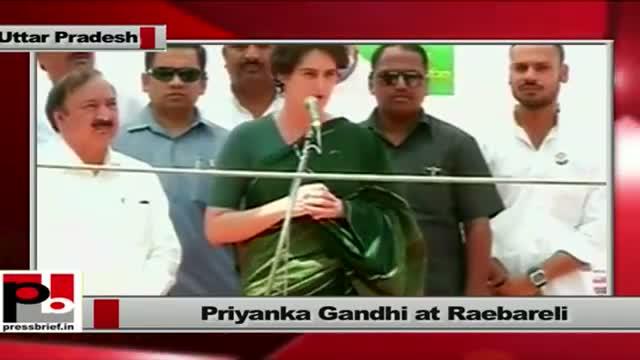 Priyanka Gandhi at Raebareli targets Modi on Gujarat model and RSVP remark