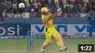 "CSK vs MI - Match 13 - Dhoni's ""HELICOPTER"" takes off in Dubai - PEPSI IPL 2014 (25 April 2014)"