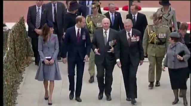 Raw: Royal Couple End Trip by Honoring Anzac Day