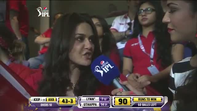 KKR vs KXIP - Match 15 - Interview with the KXIP Co-Owner Preity Zinta - PEPSI IPL 2014 (26 April 2014)