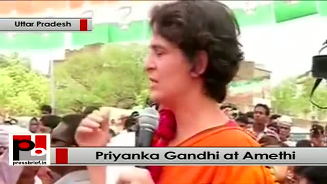Priyanka Gandhi at Amethi: Rahul follows the footsteps of his father Rajiv Gandhi
