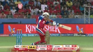 KXIP vs RCB - Match 18 - Yuvraj Singh gets a good start but out on 35 - PEPSI IPL 2014 (28 April 2014)