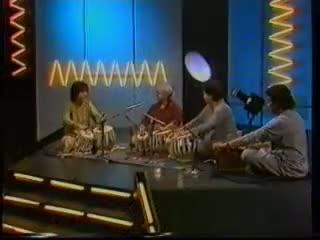 Ustad Alla rakha and ustad zakir hussain on brit television