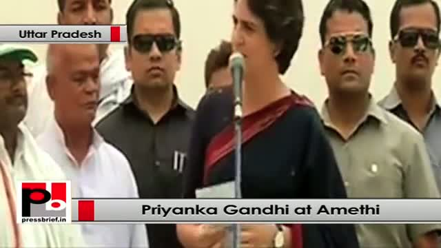 Priyanka Gandhi in Amethi (UP) slams Modi for his Shehzada jibe on Rahul Gandhi