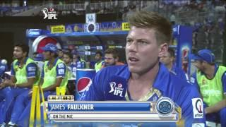 KKR vs RR - Match 19 - Interview with the Birthday Boy, James Faulkner - PEPSI IPL 2014 (29 April 2014)