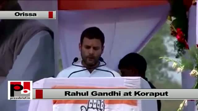 Rahul Gandhi at Koraput, Orissa : Whole India can learn from you