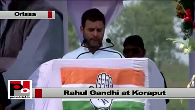 Rahul Gandhi at Koraput, Orissa : You don't get the equivalent amount for your land
