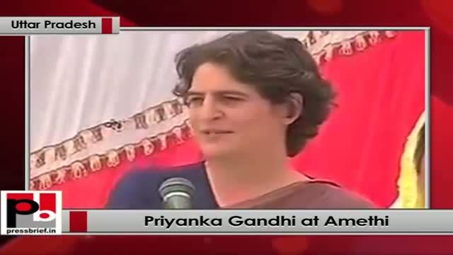 Priyanka Gandhi campaigns in Amethi (Uttar Pradesh)