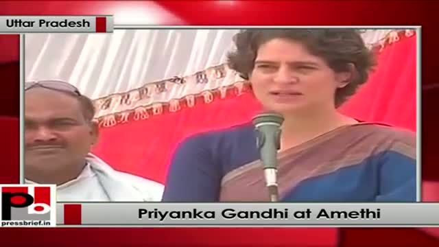 Priyanka Gandhi lists development works done by Rahul Gandhi in Amethi