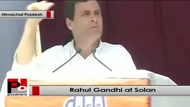 Rahul Gandhi addresses an election rally in Solan(Himachal Pradesh)
