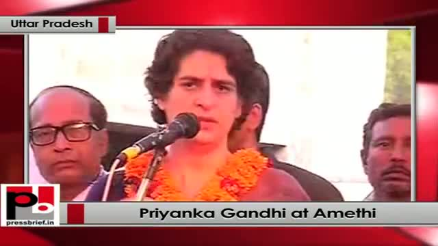 Priyanka Gandhi in Amethi: In democracy people have the power and authority