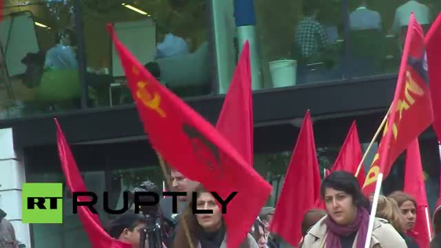 UK: Stalin shows his face at London May Day march