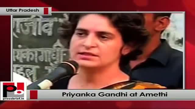 Priyanka Gandhi campaigns for Rahul Gandhi at Amethi