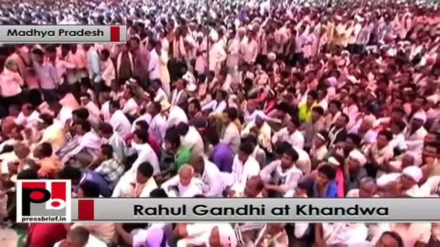 Rahul Gandhi : BJP wants an India, which belongs to 2-3 industrialists