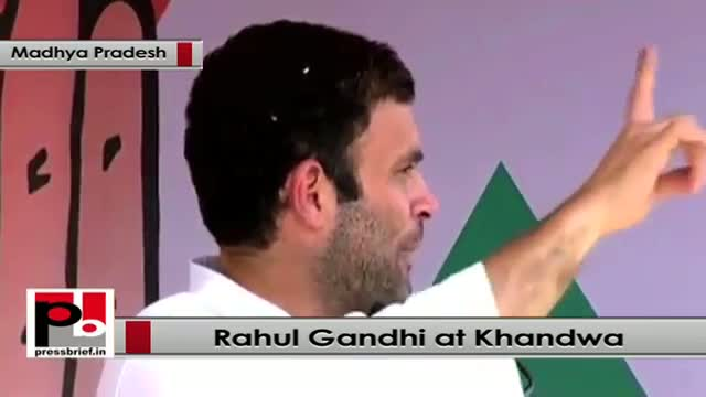 Rahul Gandhi : 45,000 acres of land was given at the cost of 1 rupee per meter in Gujarat